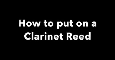 How to put on a Clarinet Reed