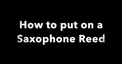 How to put on a Saxophone Reed