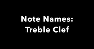 Note Names: Treble Clef