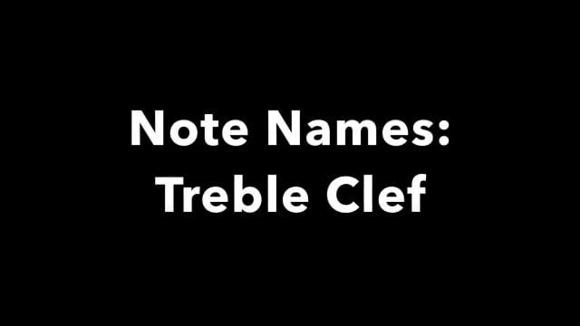 Note Names: Treble Clef